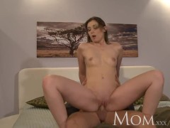 MOM Experienced brunette loves having men pay special attention to her puss
