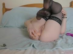Horny college girl sarah-xxx double penetration with toys