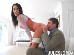 Jules Jordan - Megan Rain Teen Dp'd, Tell Me How My Ass Tastes!