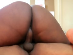 ENORMOUS MILF ASS Rides Fat Black Cock and TAKES STICKY CREAMPIE