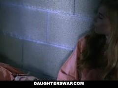 DaughterSwap-Teen Daughters Suck Cock for Bail