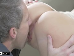 Glamkore - Kira Takes two Dicks in her Holes in this Glam Hardcore Fuck