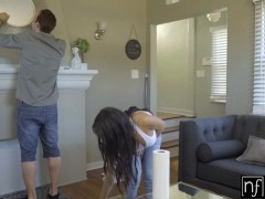 NF Busty - Hot and Horny Shay Evans Fucks Handyman S4:E7