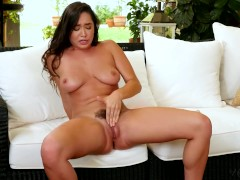 Holly Randall — Busty Karlee Grey Plays with her Bush and Fingers her Pussy