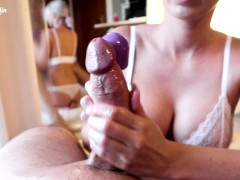 Special Vibration Handjob on Big Cock! Intense Teasing until Orgasm