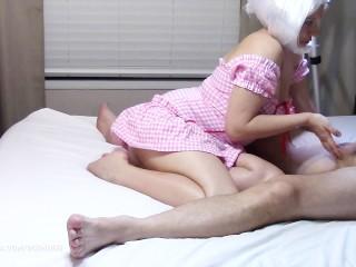 Masáž prostaty milfkou v prevleku