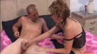 Kinky handjob facial cumshot