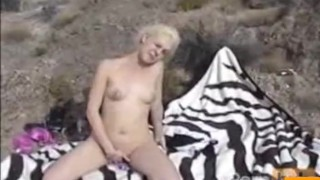Pussy in mountains the fingering outdoor