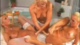 3 Blond Lesbians Fingering  big tits pussylicking kissing blonde small tits fetish massage 69 fisting lesbian romanian fingering oil stockings