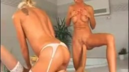 3 Blond Lesbians Fingering