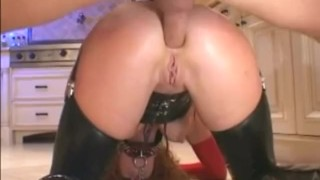 Audrey Hollander deepthroats and fucks in latex and boots  lingerie videos.com big tits sclip freckles riding redhead blowjob pornstar handjob latex anal stockings doggystyle face fuck red head