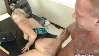 Blonde Busty Teen Gets Her Ass Spanked While Getting Rammed From Behind porno
