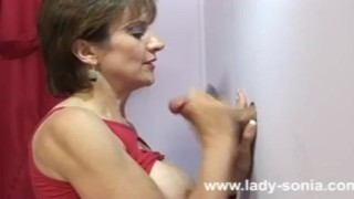 Amateur Lady Sonia gloryhole cumshot  red haired huge tits big tits babe sexy blowjob naked gloryhole cumshot cock busty milf fuck naughty british fake tits sex nude lingerie