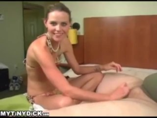 Cum In The Asshole Cute Girl Stroking A Tiny Dick