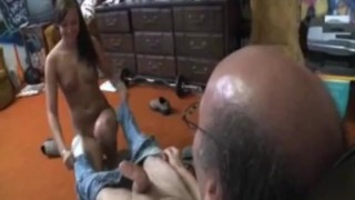 Ivy Gives Old Man Time Of His Life. Cock big