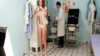 Redhead Denisa gyno pussy speculum vaginal examination