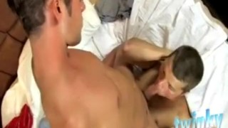 Hot friend college stud his blows blowjob kissing