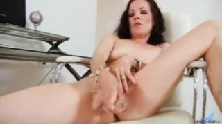 Dildo Fucked Claudia Adkins Cowgirl creamed