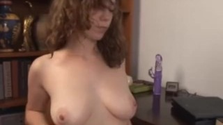 Screaming Sammy gushes hairy pussy juice dildo toys wearehairy-com masturbation wet squirting hclip hairy natural-tits vibrator brunette orgasm fetish