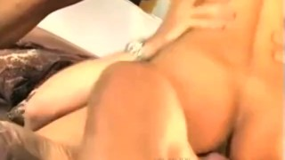 Alexis Amore Sucking and Getting Fuck by 2 Cocks Brunette doggystyle