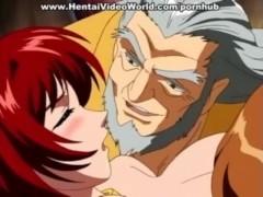 Hentai group with a horny slut