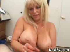 Mature Bj and Titfuck with BIG boobs