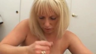Mature Bj and Titfuck with BIG boobs Granny sex