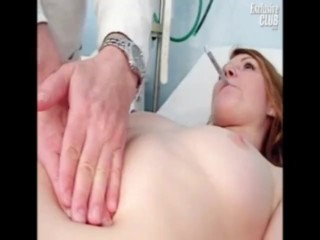 18years Sex Videos Com Helga Gyno Pussy Speculum Examination On Gynochair At Kinky Clinic, Fetish Te