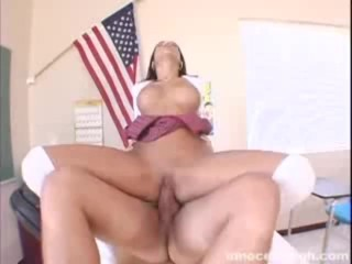 Busty latina, Maya, getting her wet pussy rammed hard