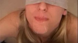 Ideepthroat - Heather - Perfect BJ,Blindfolded and Swallow!!