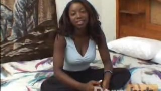 Small dick blown by hot ebony
