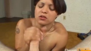 Hot MILF gives head Trimmed blowjob