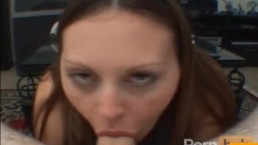 Julie Ann blowing his cock