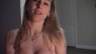 Hot babe gives good blowjob Masturbate view