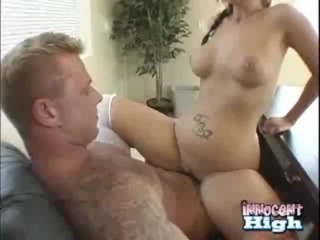 Sexy Daryn pumps up and down on top of the school dean