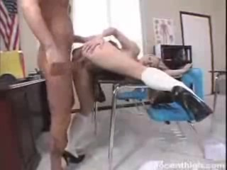 Danielle Riley Pinup Fucking, Alluring blonde chick Kylee Reese gets rammed by her prof In doggy pos