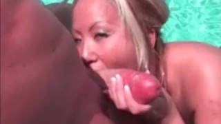 Jazzmine - The Pool Party - Scene 4  hardcore outdoor big-tits party drunk pool asian blonde blowjob