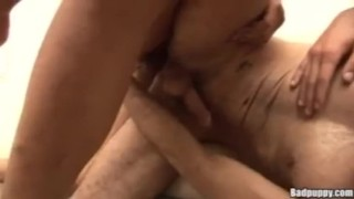 Lusty lovers latin blowjob kissing