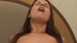 Anal drilled brunette