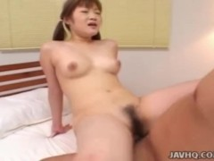 Japanese schoolgirl gets fucked by her teacher at home