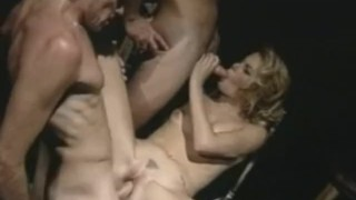 Blonde first loving threesome her mmf close