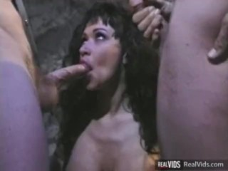 Buxom brunette enjoy lots of cocks