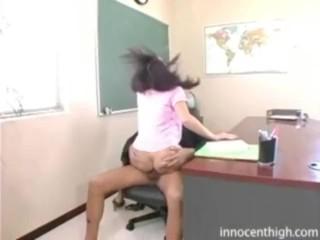 Horny latina teen getting fucked hard for grades