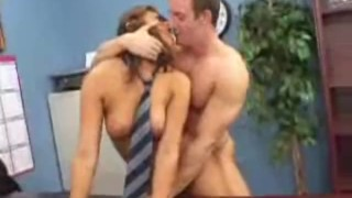 Busty student Carmen McCarthy offers her sweeet pussy for forgiveness