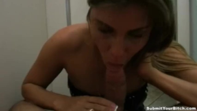 Dirty Ex Girlfriend Sucks Dick In Bathroom At Party