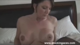 Milf Fucks Wand For First time