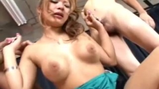 Busty several japanese babe gets cocks by up gangbang