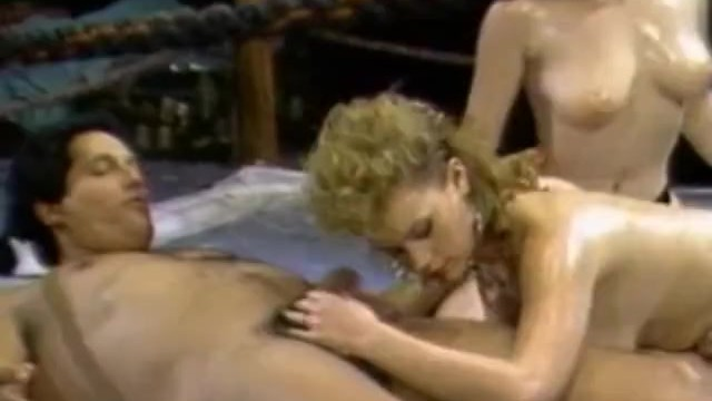 Vintage motorcoachs Busty oiled girls gets nailed by coach