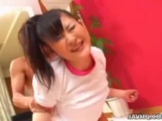 Sweet Japanese teen fucked hard