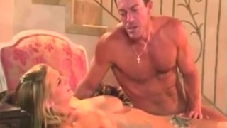 Hot Tall Blonde Sucks Cock and Gets Fucked